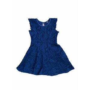 NWT Zunie Ruffle Lace Skater Dress Blue Size 3T